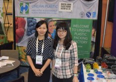 Mayvis Zhuang and Rita Chen from Linghai Plastic
