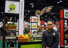 Eric Rosales from Don Limn, one of the many Mexican exhibitors present at the show.