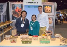 Tony Aquilar, Juana Ramirez and Matt Manfre of Sambrailo Packaging