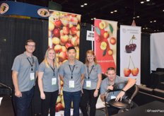 James Michael, Karley Lange, Keith Hu, Teresa Bagarley and B.J. Thurlby of Northwest Cherry Growers