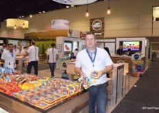 Chris Veillon of Pure Flavor promotes the Mini Munchies snack pack and Juno Bites