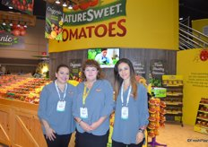 Lori Castillo, Kathryn Ault and Karen Hernandez with NatureSweet.