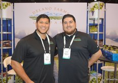 Edgar Contreras and Robert Munoz represent grape grower-shipper Delano Farms.