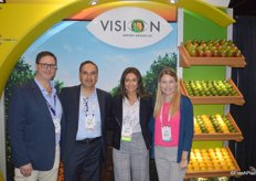 The team of Vision Import Group: Ronnie Cohen, George Uribe, Angela Aronica and Lindsay Love.