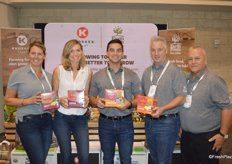 The team of EarthFresh introduces Earth Apples, easy to grow seed potatoes for the home and garden market. From left to right: Stephanie Cutaia, Liana Fehr, Andrew George, Dan Martin and Jim Sorichetti.