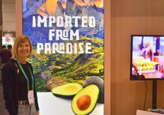 Karen Brux with the Chilean Avocado Importers Association.