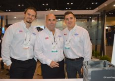 Brian Lapin, Kurt Cappelluti and Andrew Catania with Catania Worldwide.