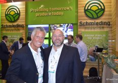 Scott McDulin and Adam Chernow with Schmieding Produce.