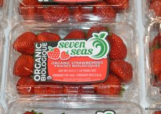 New labeling for organic strawberries.