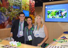 Andres Coloma, Menuka Shrestha and Susanne Bertolas with the Chilean Fresh Fruit Association.
