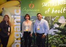 Gloria Smith, Mayra Velazquez de Leon and Marco Garcia with Organics Unlimited.