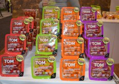 TOMZ tomatoes on display at NatureFresh Farms. The company also show offered a virtual reality tour of its bell pepper production and tomato and harvest. It's an educational tool to show the story behind the pepper and the tomato.