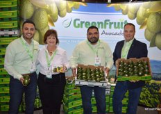 Giovannia Espinosa, Christine Connell, Bernardo Gomez and Kraig Loomis with GreenFruit Avocados show a new 2-pack for foodservice as well as avocado boxes for retail.