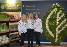 Tami Gutierrez, Carmen Placensia and Tina Cox with Coastline Family Farms.