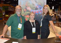Jim Allen, Debbie Hulsopple and Kaari Stannard with New York Apple Sales.