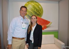 Tom Richardson, SVP of Global Development for Giumarra, together with Megan Schulz, Director of Communications.