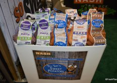 Nash Produce just introduced new labeling for its white and purple sweet potatoes in convenience mesh bags.