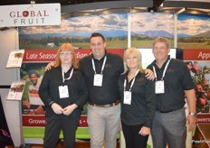 Tanya Rowter, Andre Bailey, Laurel Angebrandt and Mike Isola with Global Fruit, exporter of Canadian cherries.