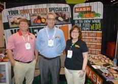 Thomas Webb, Thomas Joyner and Tami Long with Nash Produce.