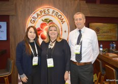 Tatiana Quiros, Susan Day and Adrian Felix with the California Table Grape Commission.