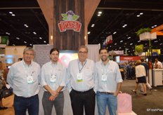 Executive team members of Divine Flavor. From left to right: Alan Aguirre, Alan Aguirre jr., Pedro Batiz and Carlos Bon jr.