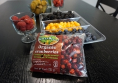 Organic Biodynamic cranberries from GreenBelle, the organic division of Sun Belle.