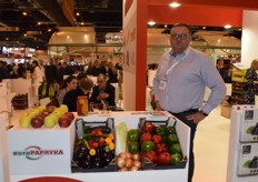 Pawel Myziak from Polish company EuroPapryka, they export all kinds of fruit and vegetables like peppers, onions and apples.