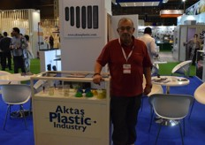 Armen Ipecki, representing Aktas Plastic Industry. They make plastic containers of all sizes to preserve a wide range of fruits.