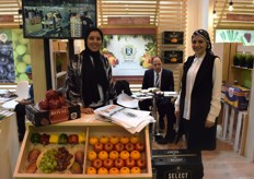 Sheimaa Kaoud and Noha El Adawj on the Royal for International Trade Co. stand. They export citrus, peppers and grapes, mainly to Europe and Asia.