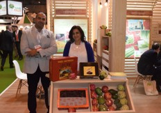 Emad El din Ahmed and Nevine Karam, respresenting Evagro. The company is proud of their core values. Those are: honesty, fairness, respect, positive impact, passion for succes, and putting the customer first.