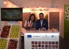 Ewelina Witek on the left, representing Bialski Owoc; a Polish apple exporter.