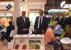 On the left is Khaled Shaker, the export manager for Green Egypt. On the right is Sherif Attia, Green Egypt's president. They export a variety of vegetables.