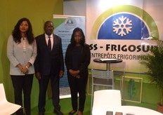 From left to right: Djara CissSidibe, CEO Ousmane Sidiband Aida Sidibe for SS Frigosud. They cultivate and export potatoes from Mali and offer cooling solutions for storing them.