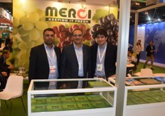 From left to right: Vishal Mishra, Ritesh Sakhuja and Pablo Rojas. They represent Merci, an exporter from India.