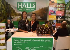 On the left is Leigh Green, Halls' marketing manager, on the right is Angelique Deveaux, commercial specialist for the French department. Halls is widely known for their avocados.