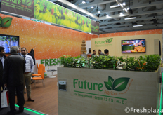 Quite some people at the booth of Future Agrico for Investment (FAI) - Green 12. FAI-Green 12 is a grower and exporter of a wide range of fruits and vegetables, like oranges, mandarins, lemon, lime, strawberry, pomegranates, grapes and vegetables.