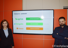 Gabriela Szpuwar and Jakub Bobran from Traco. Traco is an IT system for managing the logistics in the warehouse.