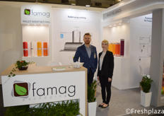 Grzegorz Karaś (Export Manager) and Anna from Famag. They are a manufacturing company focused on producing agricultural packaging (raszel bags, verticalbags, pallet wrap net, banderols) and industry (flexo printed films, laminates and special packaging).