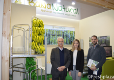 Lazaros Papakis, Marilena Papadaki and Lefteris Sergios from BanaNatural. BanaNatural introduces a disruptive way of trading bananas with the use of an integrated innovative system of gathering, transporting, distributing and finally displaying whole banana bunches at the retail points.