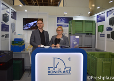 Arkadiusz Kozioł (Sales Manager) and Małgorzata Filipiak-Ziółkowska (Commercial Director) from Grupa Kon-Plast Sp. z o.o. Sp. k.