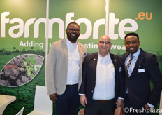 Charles Ojei (Director) from Farmforte, James Obanor from Primeur and André Schaap (CEO) from Farmforte.