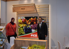 Amira Hosny and Hatem El Ezzawy from Pico. They export a variety of fruits from Egypt.