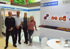 Joseph and Ido Ben-Dor, Reut Forstner Avraham and Oksana from Ben-Dor Fruits & Nurseries, they are breeder and marketer of different varieties of stonefruit and topfruit