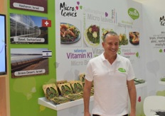 Avner Shohet from 2Bfresh, promoting the Microleaves which are grown in Israel and Switzerland