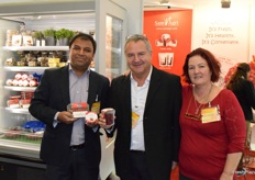 Priyatham Jyothish, David Levin and Zohara Levin from Sam Agri, promoting coconut and pomegranate arils