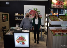 Vasilis Sinos and Elena Kullia from Kaplanis Fruits S.A. They export strawberries from Greece.
