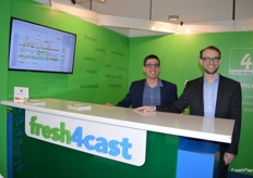 Carlos Gomez and Tom White at fresh4cast. The software can forecast yield for various fresh produce and can also be applied to forecast demand.