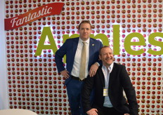 Todd Sanders and Iain Forbes at the US Apple Exports Council.