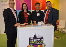The team on the London Produce Show stand - George Beach, Emma Grant, Gustav Yentzen and Jim Prevor. The event, held in June will feature a World Grape Summit for the first time this year.