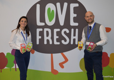 Aurélie Zogheib, Head of Global Brand Love Fresh with Anthony Gardiner Marketing Director at G's.